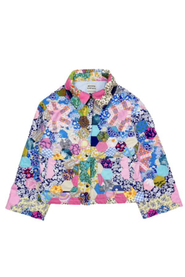 Image 1 of Magpie Vintage 1970's patchwork jacket