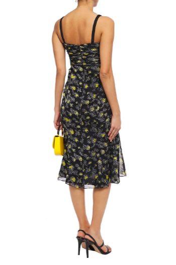 Cinq à Sept Ruched floral print silk dress 3 Preview Images