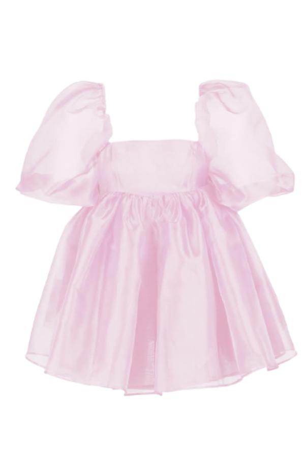Selkie Pink Puff Mini Dress