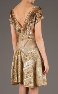 Matthew Williamson Embellished Dress in Gold 3 Preview Images