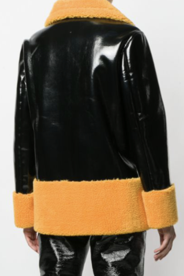 Stand Studio Double Breasted Shearling Coat 3