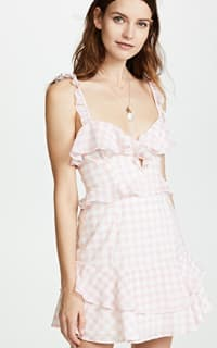 For Love and Lemons Dixie Ruffled Mini Dress  3 Preview Images