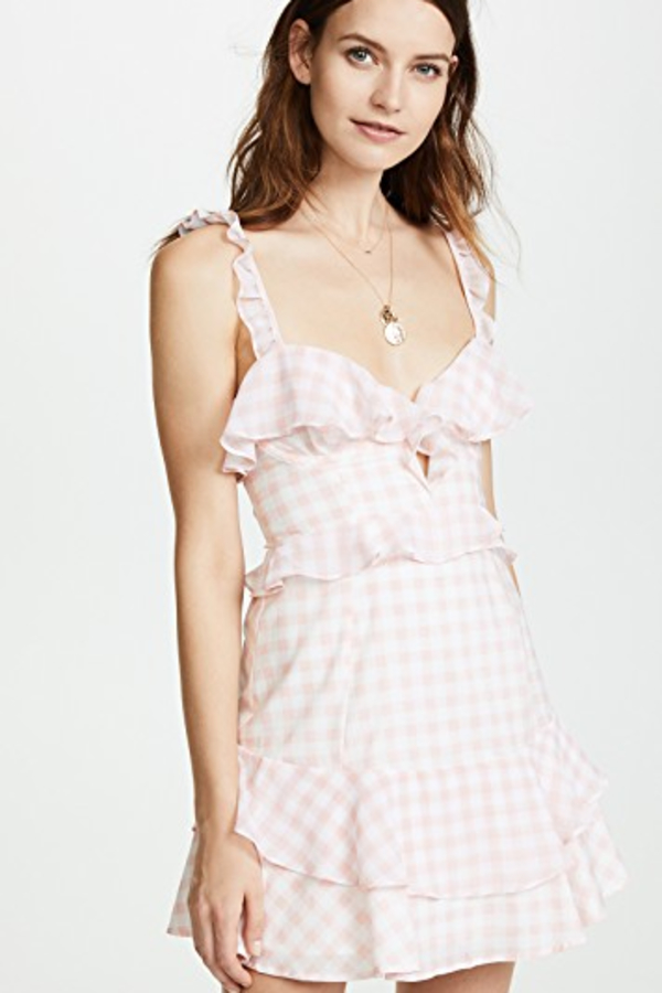For Love and Lemons Dixie Ruffled Mini Dress  3