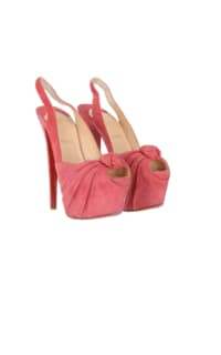 Christian Louboutin Suede pink summer shoes Preview Images