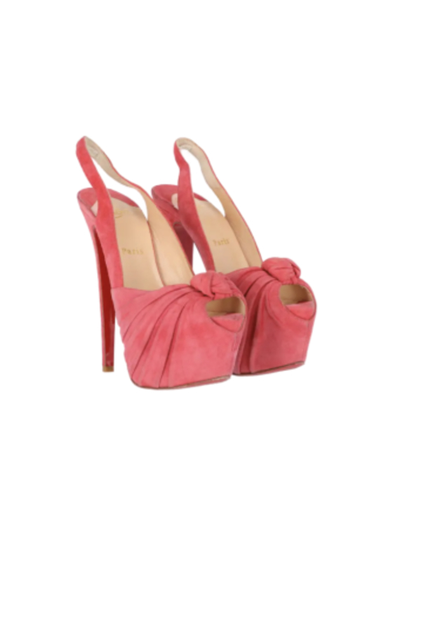 Christian Louboutin Suede pink summer shoes