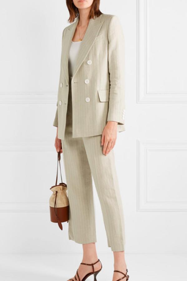 Racil Pinstriped linen blazer 2