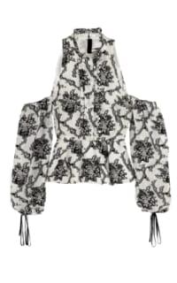 Erdem Cold shoulder floral top Preview Images