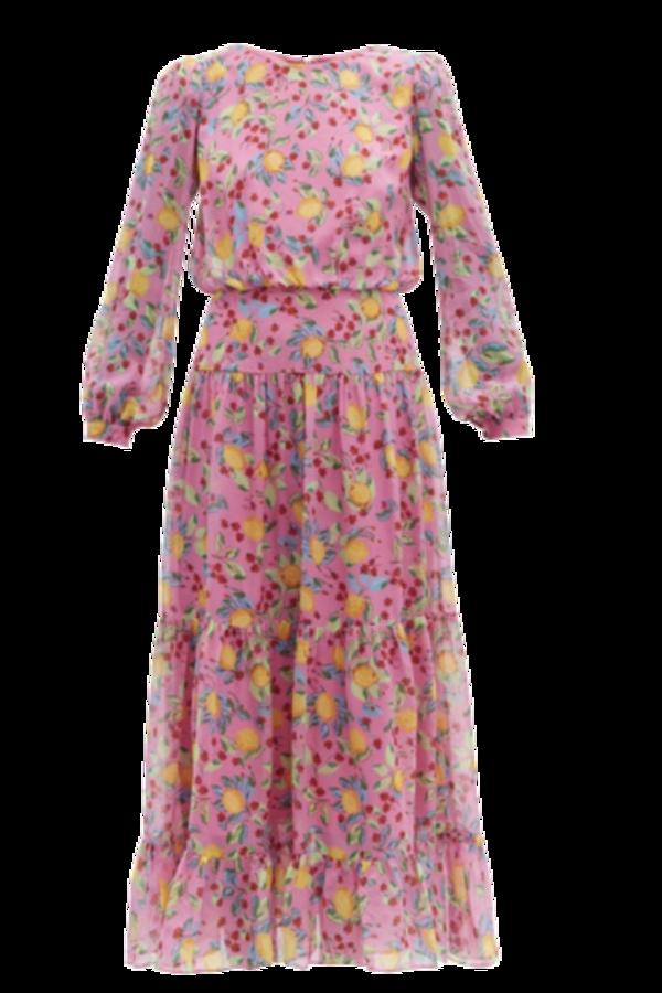 Image 1 of Saloni isabel silk-georgette dress