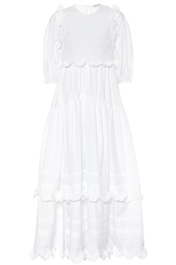 Cecilie Bahnsen Maren tiered-skirt cotton midi 0 Preview Images