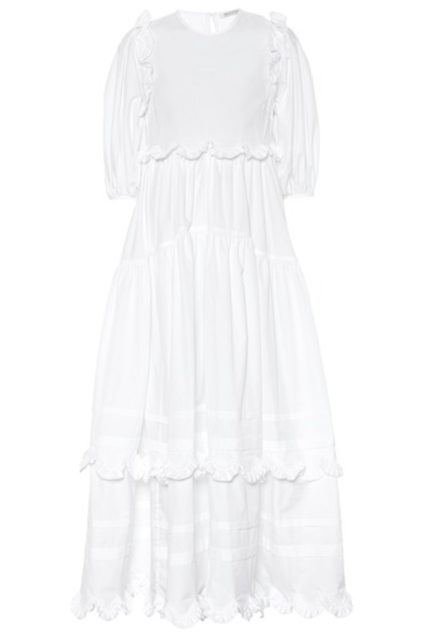 Cecilie Bahnsen Maren tiered-skirt cotton midi