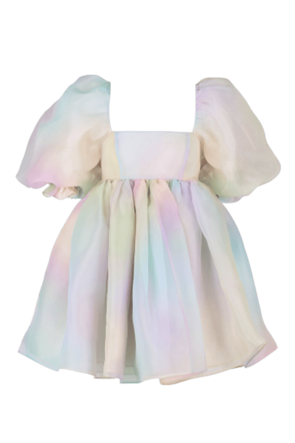 Image 1 of Selkie the rainbow puff dress
