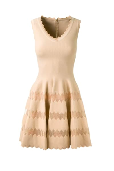 Alaïa Scalloped Edge Mini Dress