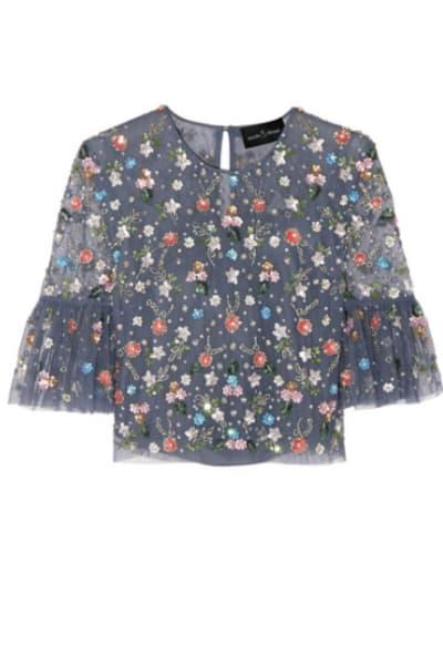 Needle & Thread Starburst tulle top and skirt 2