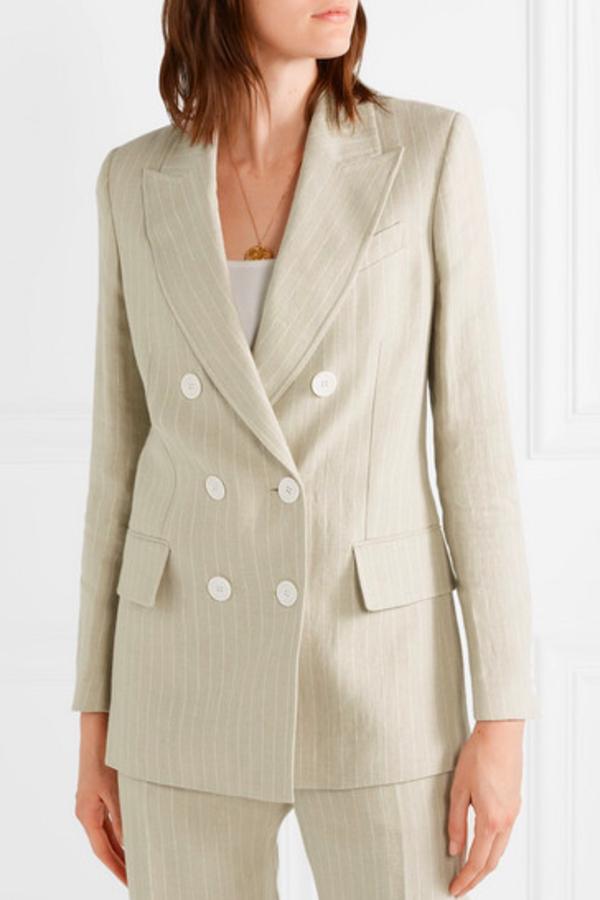 Racil Pinstriped linen blazer 3