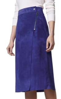 LK Bennett Reilley Wrap Leather Skirt, Violet 2 Preview Images