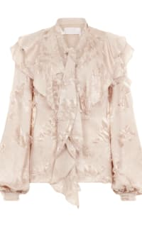 Peter Pilotto Fringe jacquard frill blouse Preview Images