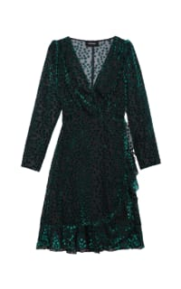 The Kooples Devore velvet green Polka dot Preview Images
