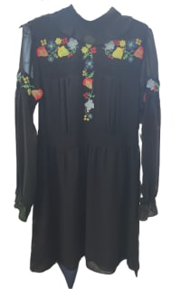 Anna Sui Garden embroidered Dress Preview Images