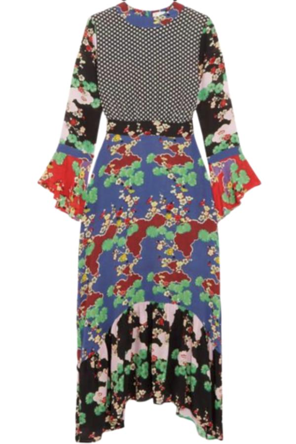 RIXO London The Chrissy Multi-Print Dress