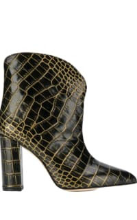 Paris Texas Crocodile Embossed Ankle Boots Preview Images