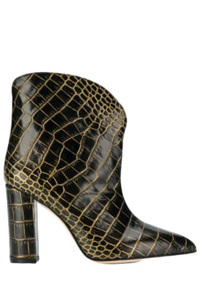 Paris Texas Crocodile Embossed Ankle Boots
