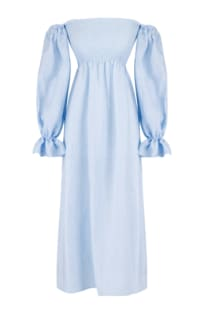 SLEEPER - ATLANTA DRESS IN AZURE BLUE
