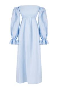 Sleeper Atlanta Dress in Azure Blue Preview Images