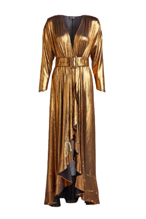 Image 1 of Retrofête wayne metallic belted dress