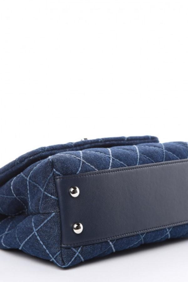 Image 2 of Chanel denim top handle bag