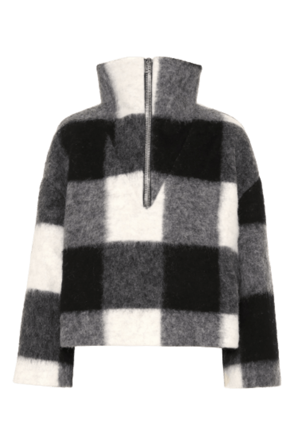Ganni Mckinney Check Wool Sweater 0 Preview Images