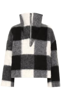 Ganni Mckinney Check Wool Sweater Preview Images