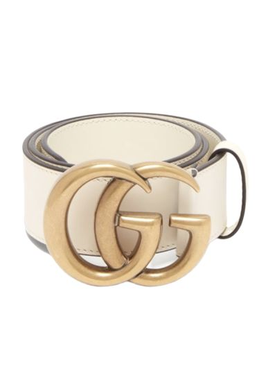 Gucci White Leather Belt Preview Images