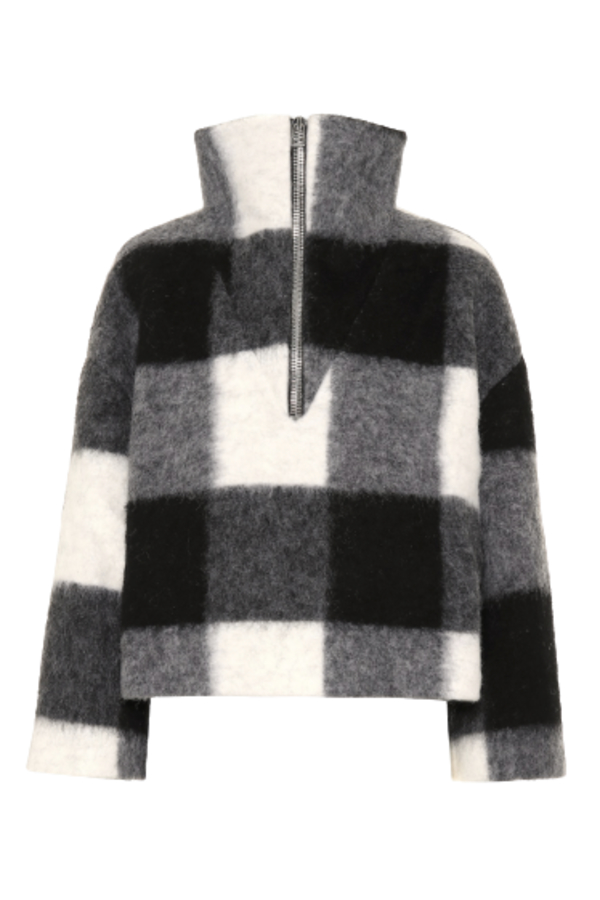 Ganni Mckinney Check Wool Sweater