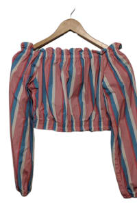 STAUD Off-The-Shoulder Striped Top 4 Preview Images