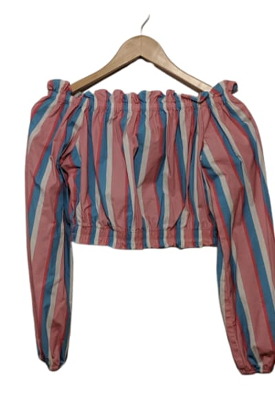 STAUD Off-The-Shoulder Striped Top 4