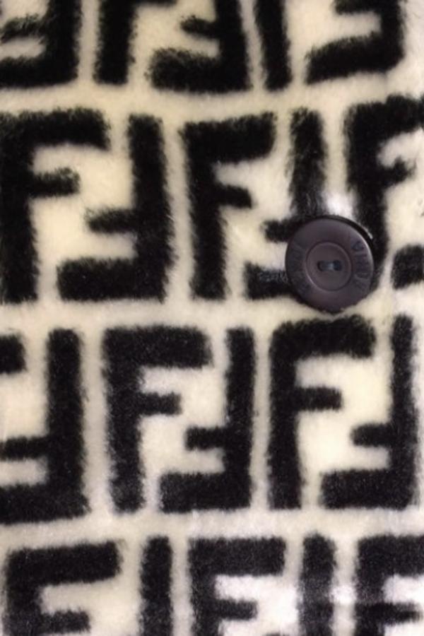 Fendi Logo printed jacket 2