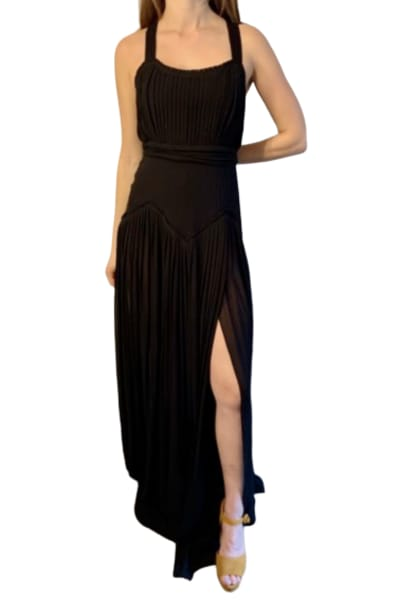 Burberry Floor length Silk Pleated Gown