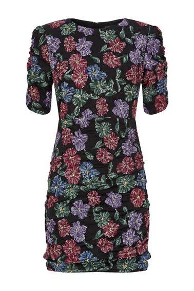 MAJE - FLORAL SEQUIN DRESS