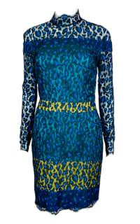 Matthew Williamson Leopard Lace Mini Dress Preview Images