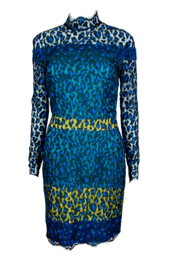 Matthew Williamson Leopard Lace Mini Dress