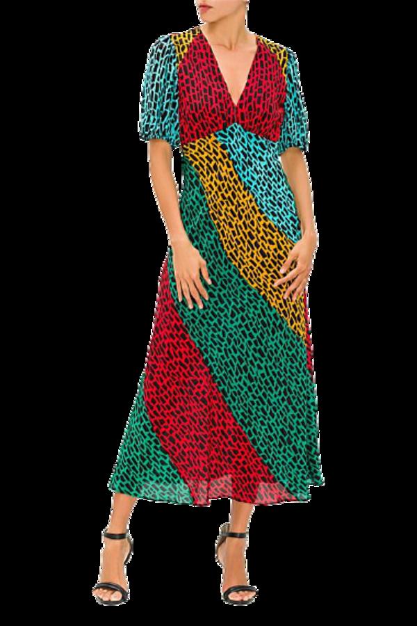Image 1 of Rixo giraffe dress