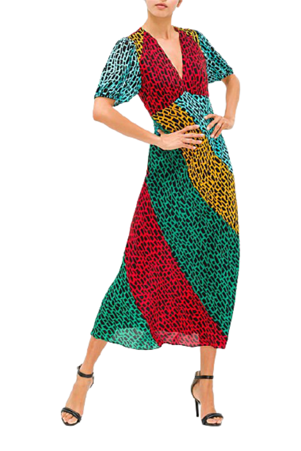 Image 2 of Rixo giraffe dress