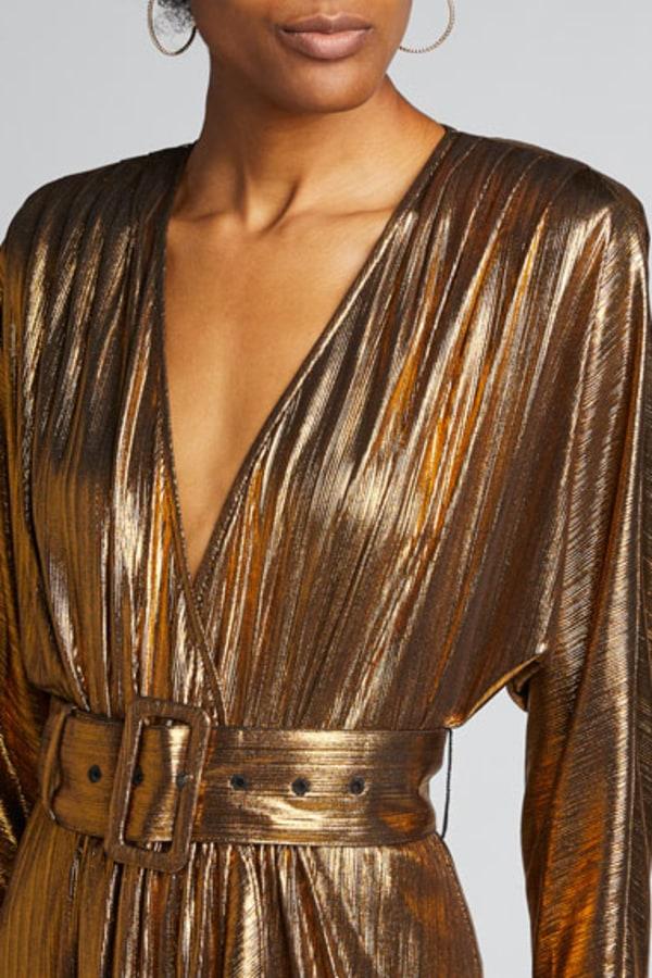 Image 5 of Retrofête wayne metallic belted dress