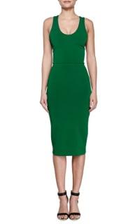 Victoria Beckham V-Back Ponte Sheath Dress Preview Images