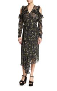 Preen by Thornton Bregazzi Alberta Floral Midi Dress Preview Images