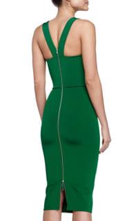 Victoria Beckham V-Back Ponte Sheath Dress 2 Preview Images