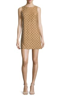 Alice + Olivia Clyde Studded Suede Dress 2 Preview Images