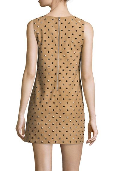 Alice + Olivia Clyde Studded Suede Dress