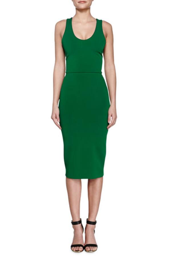 Victoria Beckham V-Back Ponte Sheath Dress