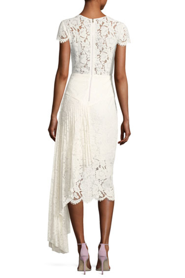 Milly Margaret Cap-Sleeve Floral Lace Cocktail Dress 2